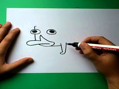 Como dibujar a Perry el ornitorrinco paso a paso - Phineas y Ferb | How to draw Perry the platypus