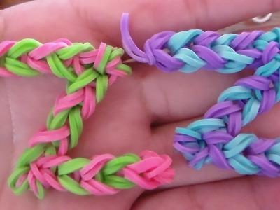 Como Hacer La Letra Z Con Gomitas o Ligas. Letter (Z) Charm without the Rainbow Loom