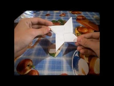 Como hacer una estrella ninja de papel, paso a paso.