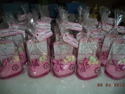 Como hacer Zapatito Invitacion para Baby Shower - DIY