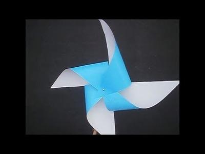 Como se hace un molino de viento de papel