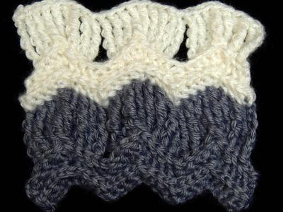 Crochet : Punto Clasico de Ondas en Abanico.  Parte  2 de 2