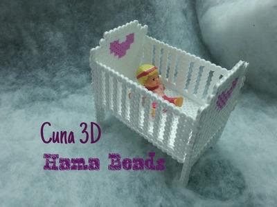 DIY Cuna de Hama beads 3D - 3D Hama Beads Cradle (perl