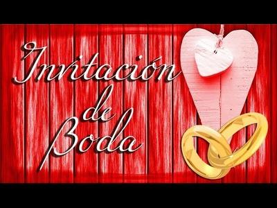 ★ INVITACIÓN DE BODA ★ Video Invitaciones de Bodas para Compartir - Felicitación de Matrimonio