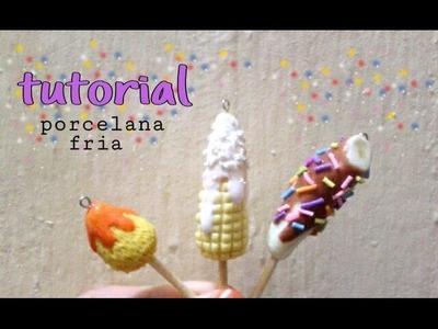 Mango. choco banana. y elote en PORCELANA FRIA tutorial