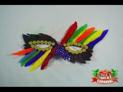 MANUALIDADES CARNAVAL » Antifaz carnavalero con plumas y cartulina