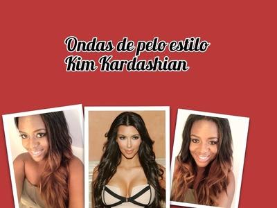 Ondas de pelo estilo Kim Kardashian