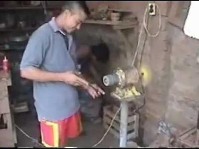 Proceso Productivo de Artesanías en Coco en Santa Marta