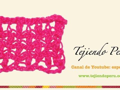 Punto fantasía # 3 tejido en ganchillo tunecino