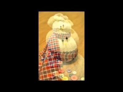"Recicla ""diapositivas"" calcetín muñecos de nieve"