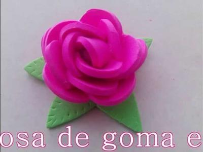 Rosa de goma eva super facil