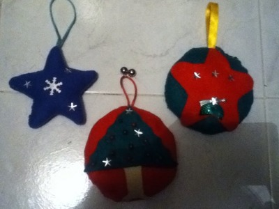 Tutorial de como hacer unas esferas de tela o fieltro