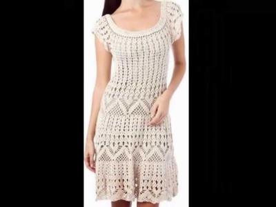 Vestido Beige Varias Puntadas Caladas a crochet