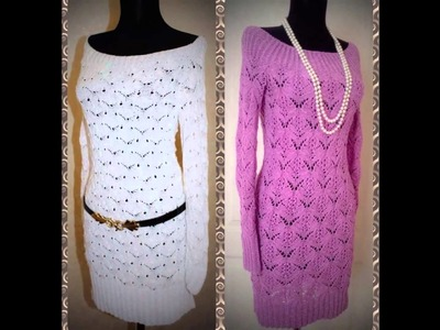Vestidos de manga larga tejidos a crochet