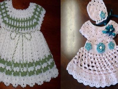 Vestidos para bebe tejidos a crochet o ganchillo Parte 5