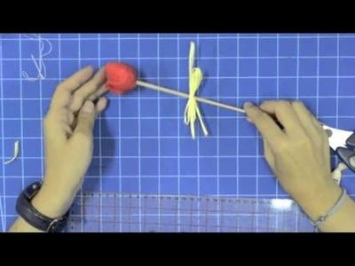 VideoTutorial - Tulipán de Patchwork (Manualidades Entremanos)