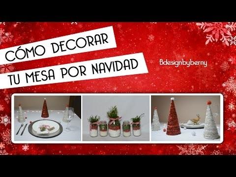 Cómo decorar tu mesa por Navidad. DIY.Low cost