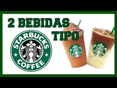 DIY 2 BEBIDAS FRÍAS TIPO STARBUCKS. CARAMEL FRAPPUCCINO. ICED CARAMEL MACCHIATTO | David Mata