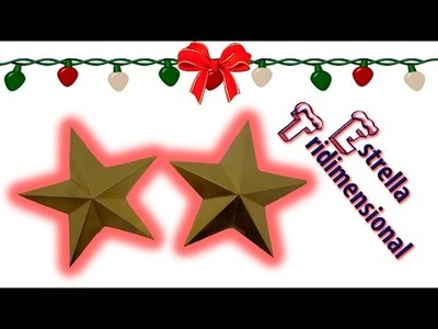 DIY | Estrella tridimensional | Fácil