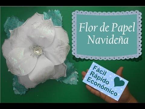 Flor navideña de papel - DIY- ROMIRNA