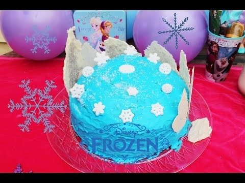 Frozen fever   pastel hecho en casa  homemade cake   frozen diy