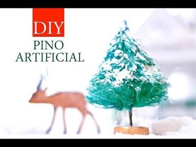 Haz PINOS ARBOLES ARTIFICIALES REALISTAS en miniatura, reciclando esta NAVIDAD - Video DIY