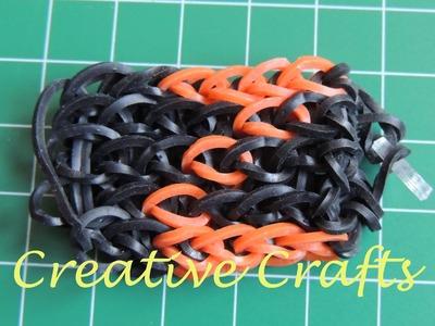 Abecedario pulsera de gomitas con nombre  Z ( Parte 12 ). Rainbow Loom.