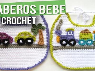 Baberos de bebe Tejidos a Crochet ( Ideas e imagenes )