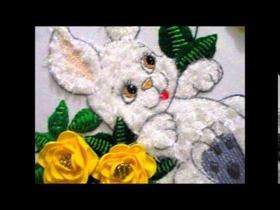 Bordado Fantasia Conejo terminado