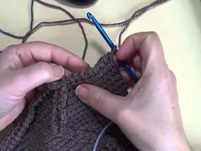 Bufanda tejida a conjunto con los guates sin dedos mitones 3 parte