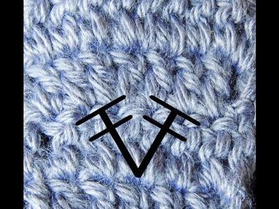 Curso Basico de Crochet : Dos Puntos Altos tomados en un solo punto