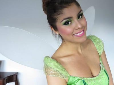 Disfraz de Campanita.Tinkerbell -  Maquillaje, Peinado y Outfit!