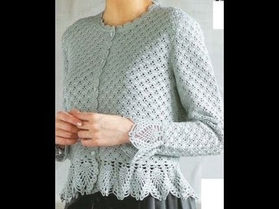 GRÁFICOS para tejer blusa manga larga a crochet