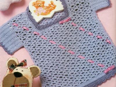 Gráficos para tejer Blusita y Gorrito a crochet