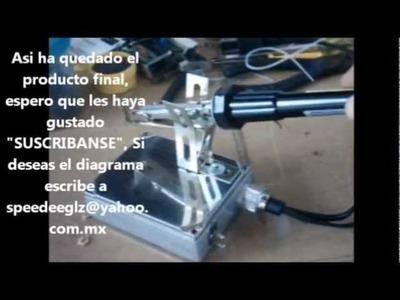 Hacer base de cautin para soldar de doble temperatura   con partes recicladas