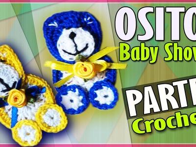 OSITO Parte 2 - Recuerdo Baby Shower - Tejido a Crochet