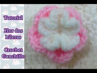 Paso a paso flor a crochet ganchillo