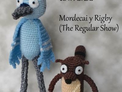 Regular Show. Mordecai & Rigby by Amigurumi Universe.