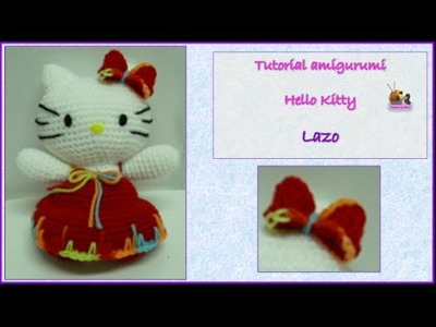 Tutorial amigurumi Hello Kitty - Lazo