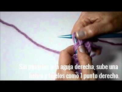 TUTORIAL Pearl Knitter cómo tejer PUNTO ESTRELLA