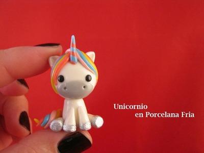 Unicornio en Porcelana Fria. Cold Porcelain