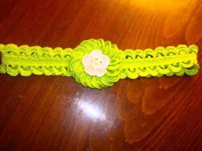 Vinchas tejidas a crochet para bebe