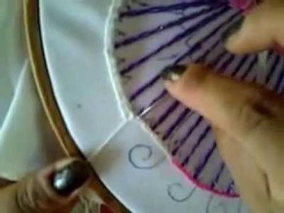 #1 bordado fantasia puntada para clavel del patito con cony