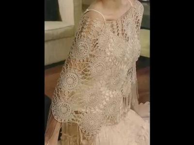 Capa En Seda Hermosa tejida a crochet