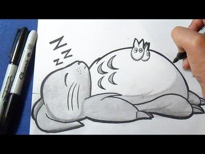 Cómo dibujar a Totoro | How to draw Totoro