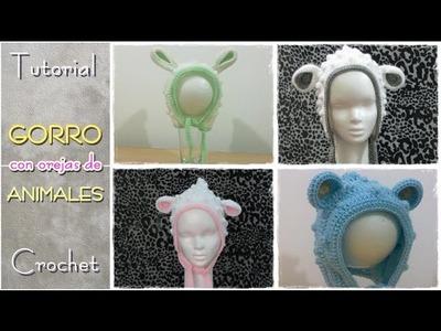 Gorros con orejas de animales - Parte 1