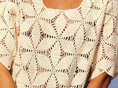 Jersey hexágonos unidos a crochet