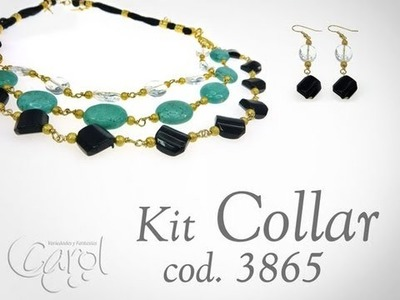 KIT 3865 Kit collar cordon seda y charms x und
