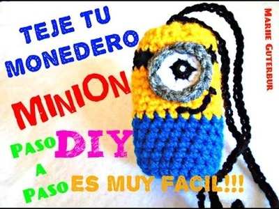 MINION Monedero !!! - Super Facil y Divertido!!! CROCHET TEJIDO