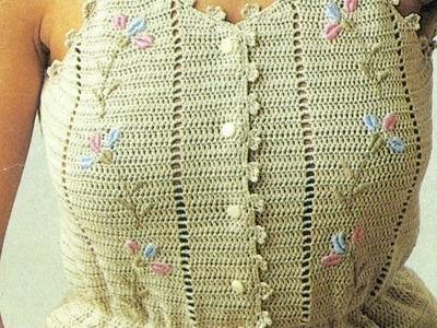 Patrón Para Tejer a Crochet Blusa Tirantes
